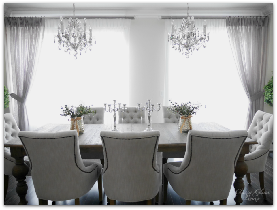 2015 Christmas Simple Dining Room | Classy Glam Living