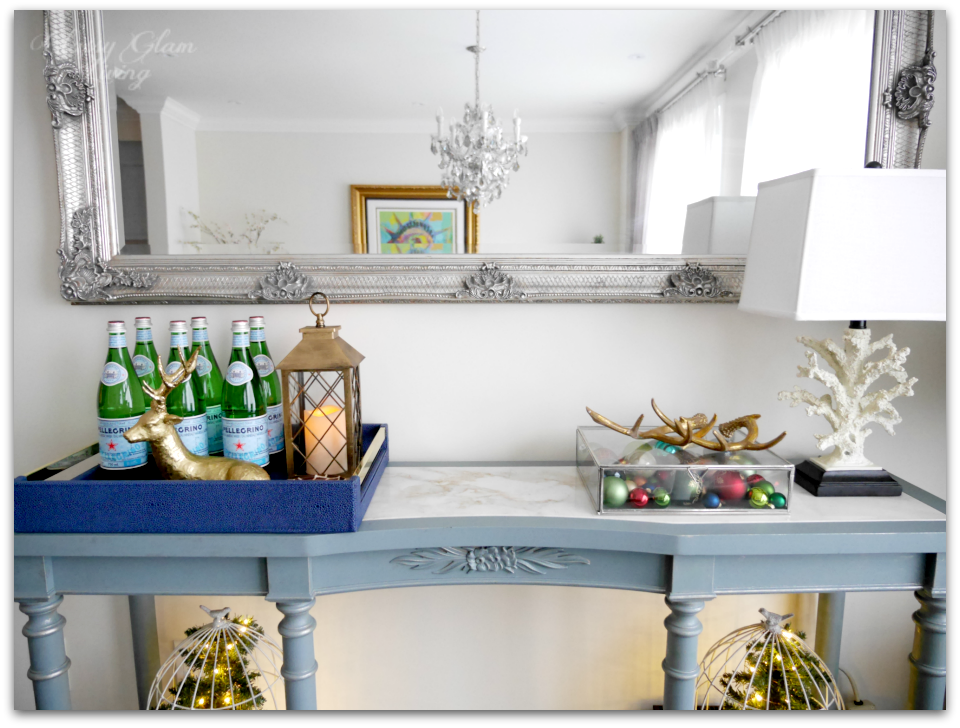 2015 Christmas Console Table Decor | Classy Glam Living