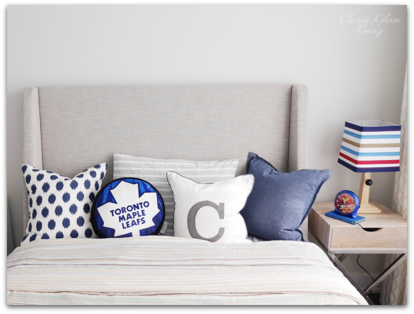 Neutral Big Boy Room Reveal | Boy's room | Kid's room | CB2 sleigh bed | Classy Glam Living