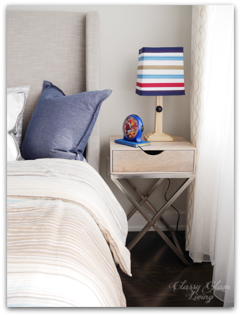 Neutral Big Boy Room Reveal | Boy's room | Kid's room | Target Threshold bedside table | Classy Glam Living