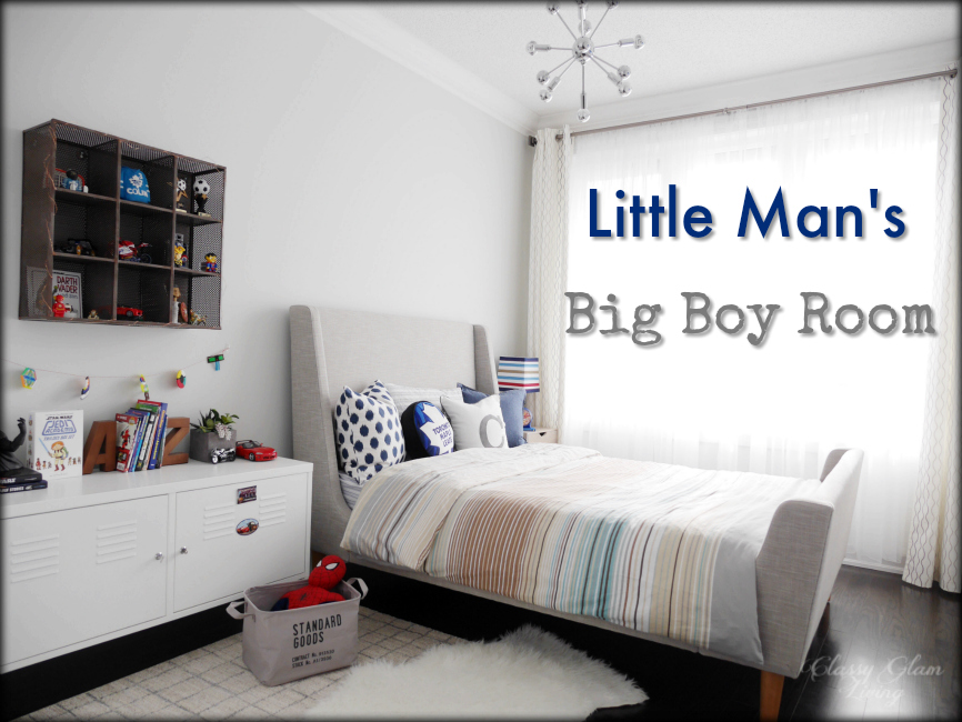 Neutral Big Boy Room Reveal | Boy's room | Kid's room | Classy Glam Living