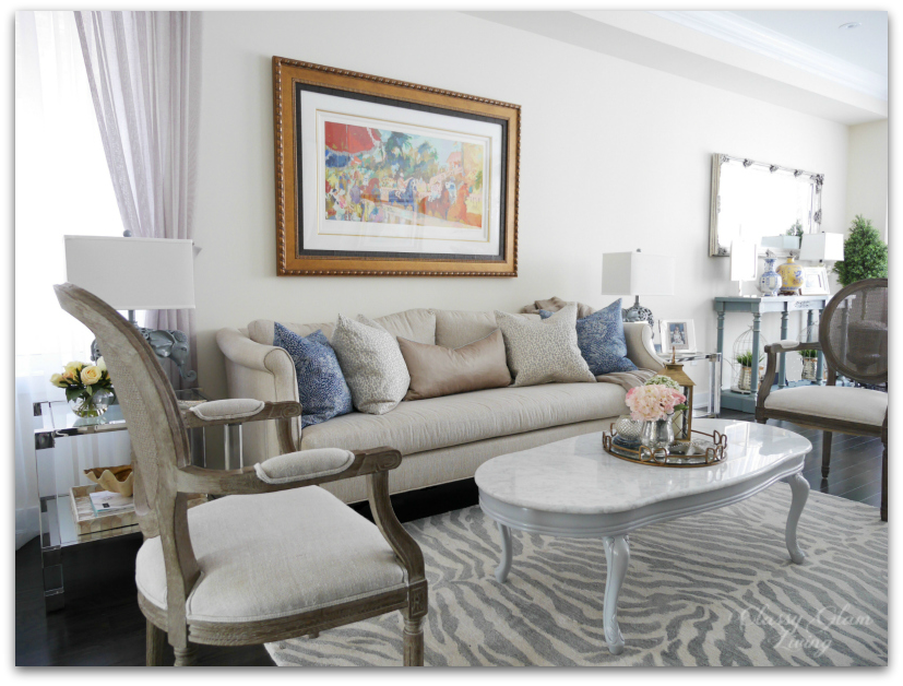 Furniture placement | Living room reveal + styling tips | Classy Glam Living