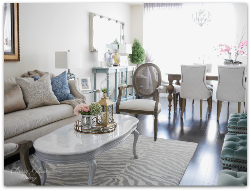 Furniture placement | Transitional colour | Living room reveal + styling tips | Classy Glam Living