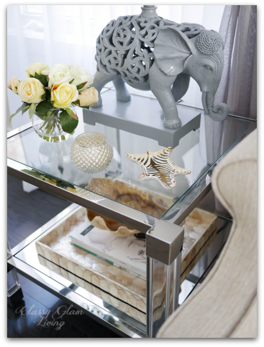 Jonathan Adler Zebra Carnaby dish | Living room reveal + styling tips | Classy Glam Living