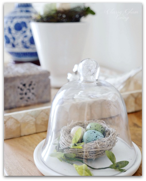5 Home Decor Ideas for Spring | Birds, nests, colourful eggs | Classy Glam Living