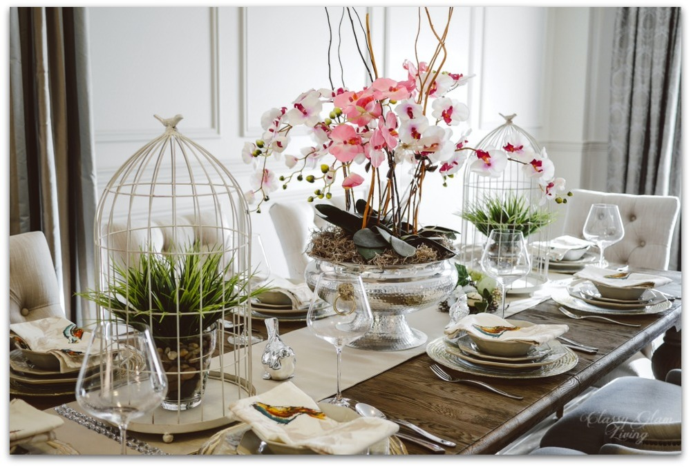 Spring Decor Dining Table Setting At Old House