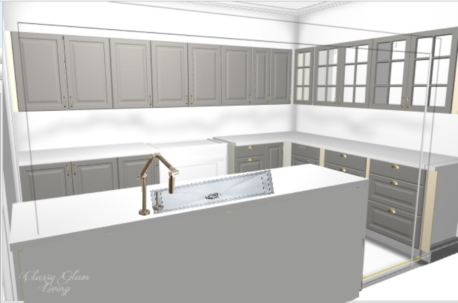 New House Kitchen Design Board | Classy Glam Living