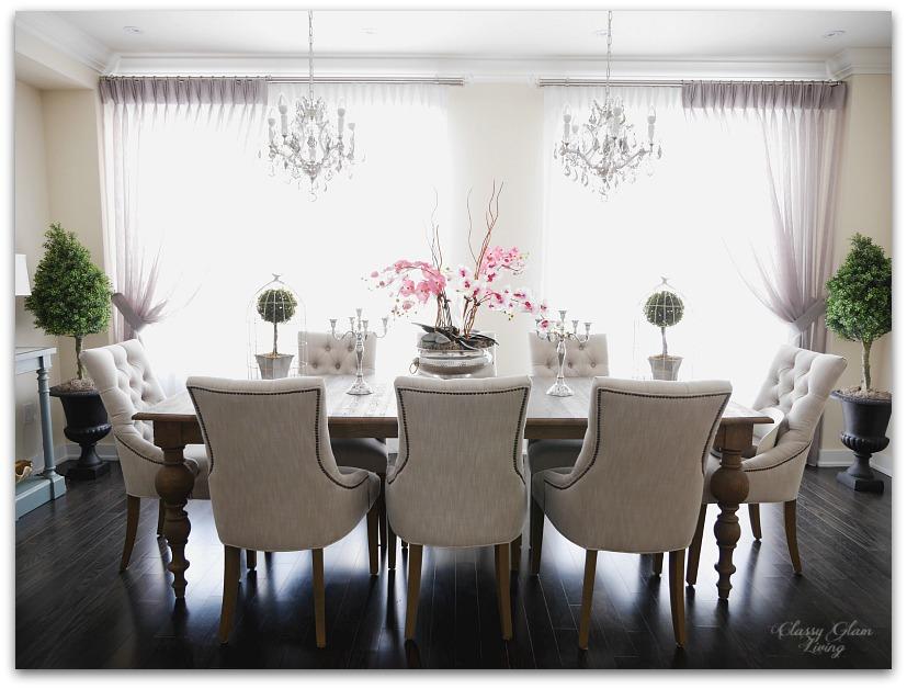 New honey do list classy glam living for Glam dining room ideas