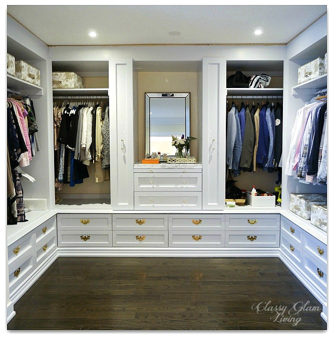 DIY Custom Dressing Room | Progress shot pull-out racks and vanity | Classy Glam Living