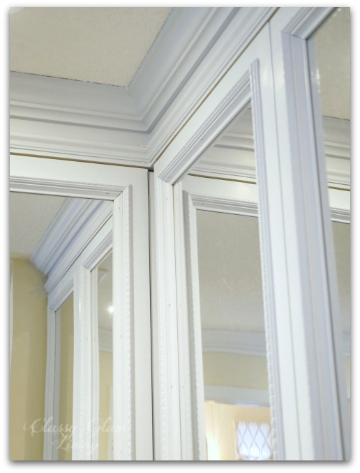 DIY Custom Dressing Room Walk-in Closet | Closet design crown moulding and trim detail | Classy Glam Living