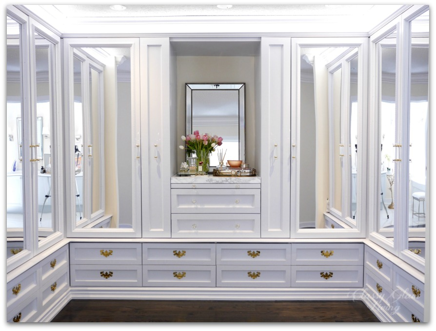 DIY Custom Dressing Room Walk In Closet | Closet Design, Ample Drawers,  Mirror
