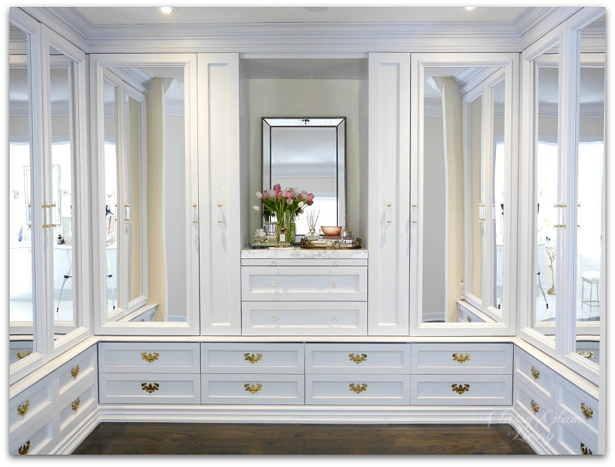 DIY Custom Dressing Room Walk-in Closet | Full view | Classy Glam Living