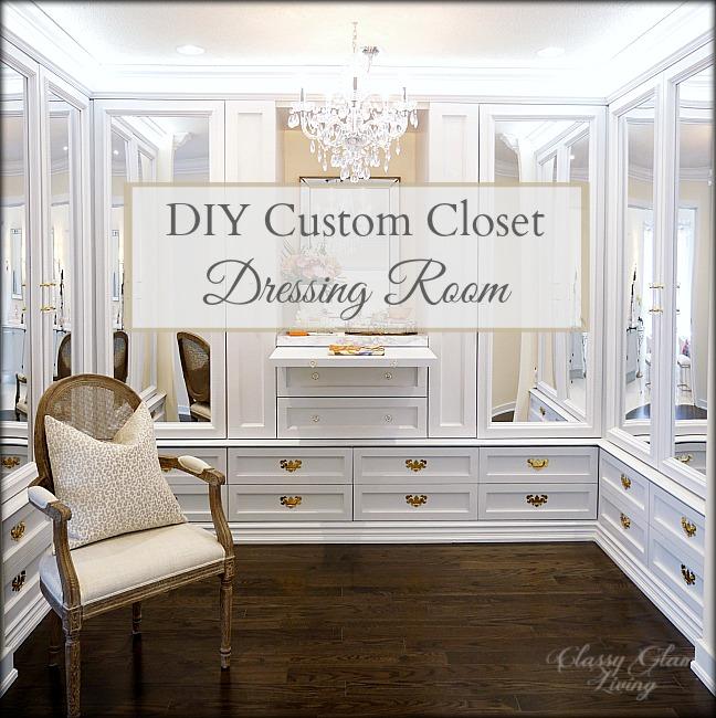 Diy Custom Closet Dressing Room Video Classy Glam Living