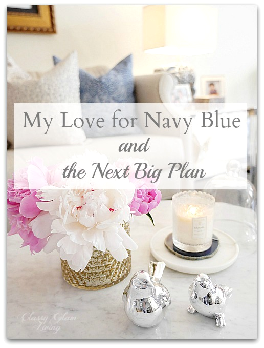 Navy Blue Decorations Home Decor | Navy blue bathroom vanity | Classy Glam Living