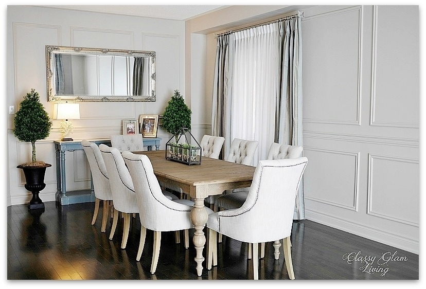 Beau DIY Wainscoting | Dining Room | Restoration Hardware | Classy Glam Living