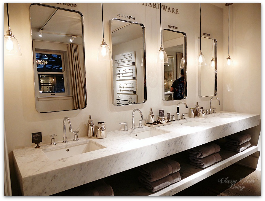 Restoration Hardware Chicago - Gallery + 3 Arts Club Cafe | Bathroom hardware | Classy Glam Living