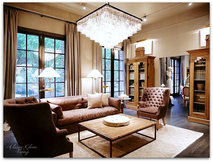 Restoration Hardware Chicago - Gallery + 3 Arts Club Cafe | Living room | Classy Glam Living