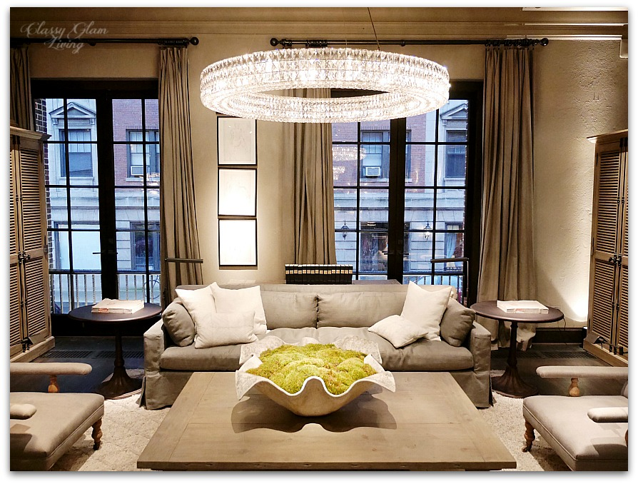 Restoration Hardware Chicago   Gallery + 3 Arts Club Cafe | Living Room |  Classy Glam