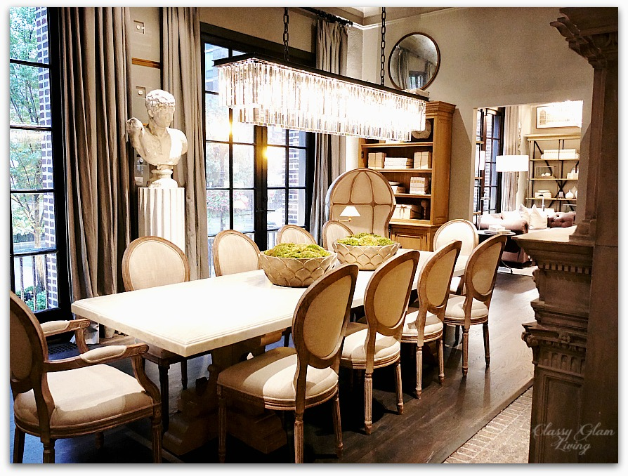 Restoration Hardware Chicago - Gallery + 3 Arts Club Cafe | Dining room | Classy Glam Living