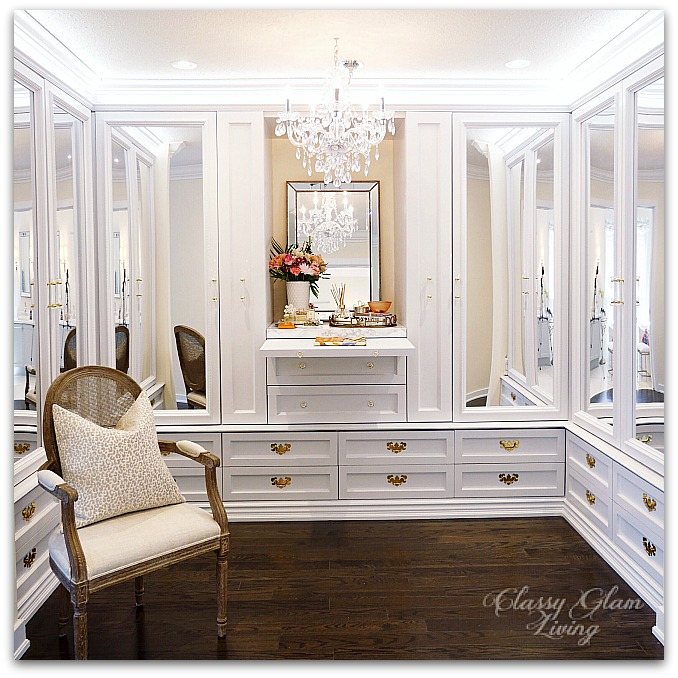 New House Dressing Room reveal | Folding table station | Classy Glam Living
