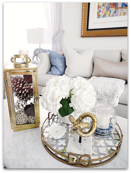 Fall Decor from HomeSense Living room family room | Classy Glam Living 1