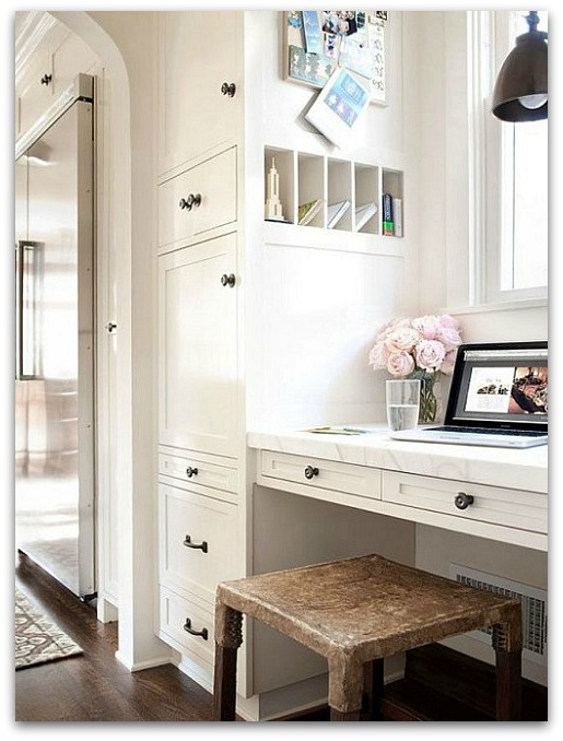 Drop zone inspirations | kitchen work station | Classy Glam Living