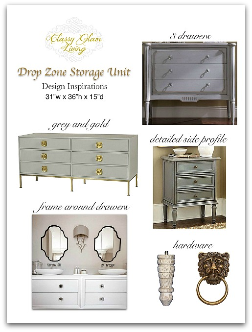 Drop zone unit design board | Classy Glam Living