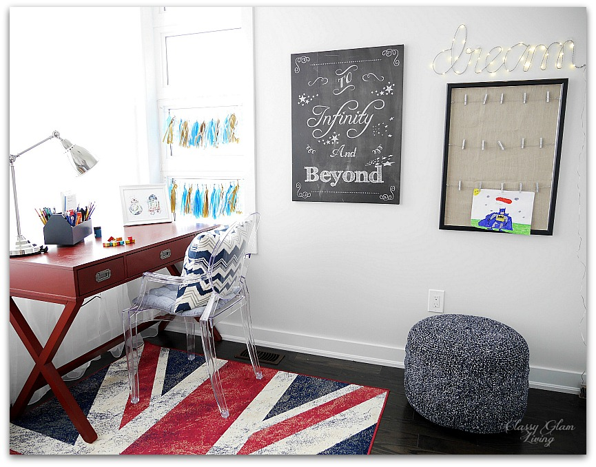 Playroom Art display gallery wall | Classy Glam Living
