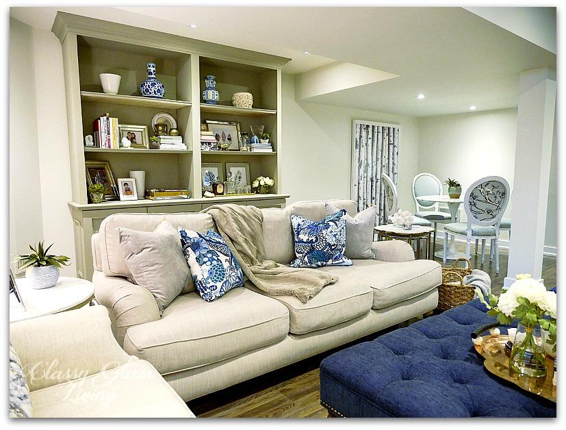 DIY BOOKSHELF CABINET | ROOM VIEW | CLASSY GLAM LIVING