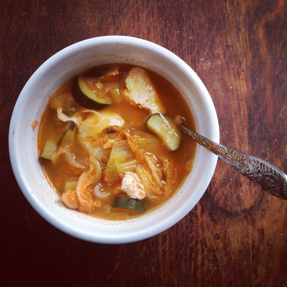 tofu & kimchi soup