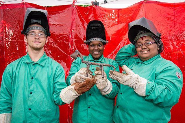 MSW apprentices showing their collaborative efforts. #weldforcommunity #pittsburgh #fabrication #industrialart #publicart #weld #welding #metal #steel 📷: @murphyleemoschetta