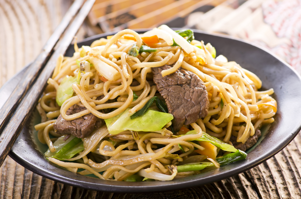 Spicy Beef Fried Noodles