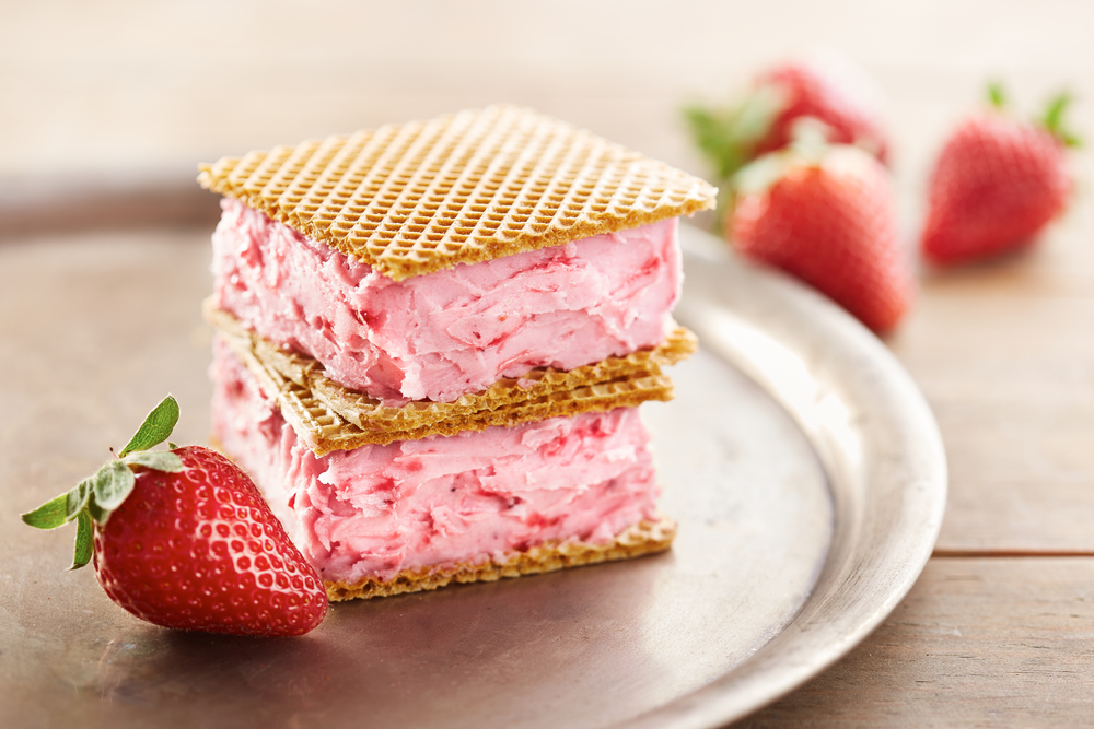 Strawberry Ice Cream Sandwich