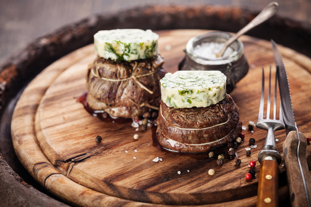 Filet Mignon with Herb Butter