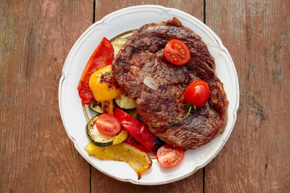 Ribeye with Roasted Vegetables