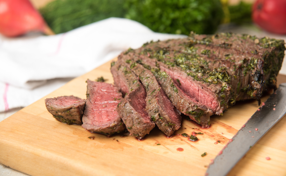Broiled Steak with Herb Butter