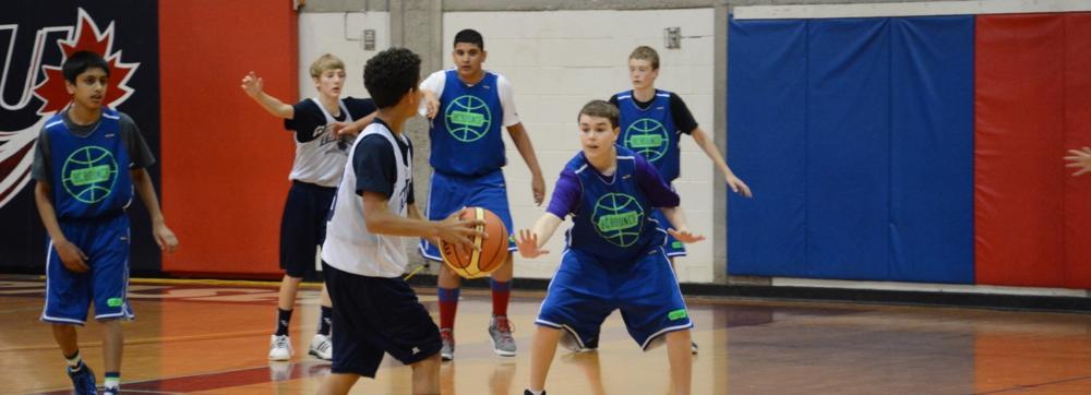 Kallen playing defense at 3D SFU tournament