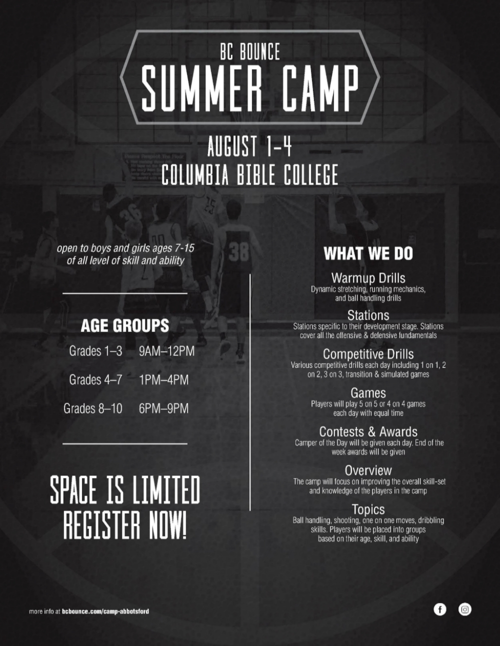 Aug 2016 Camp Flyer