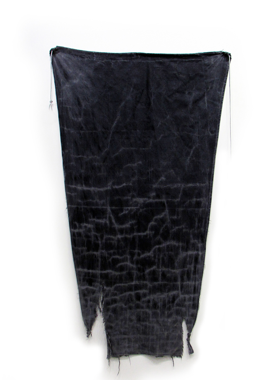 """dead black flag"" weather-worn canvas flag, 2014"
