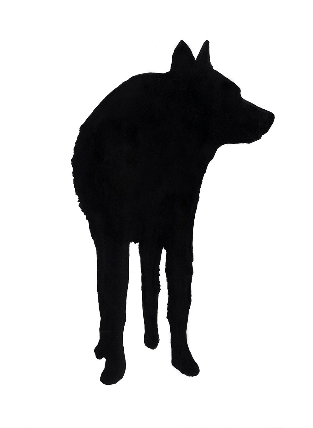 """sue dog with legs"" ink and flashe on paper, 2012"