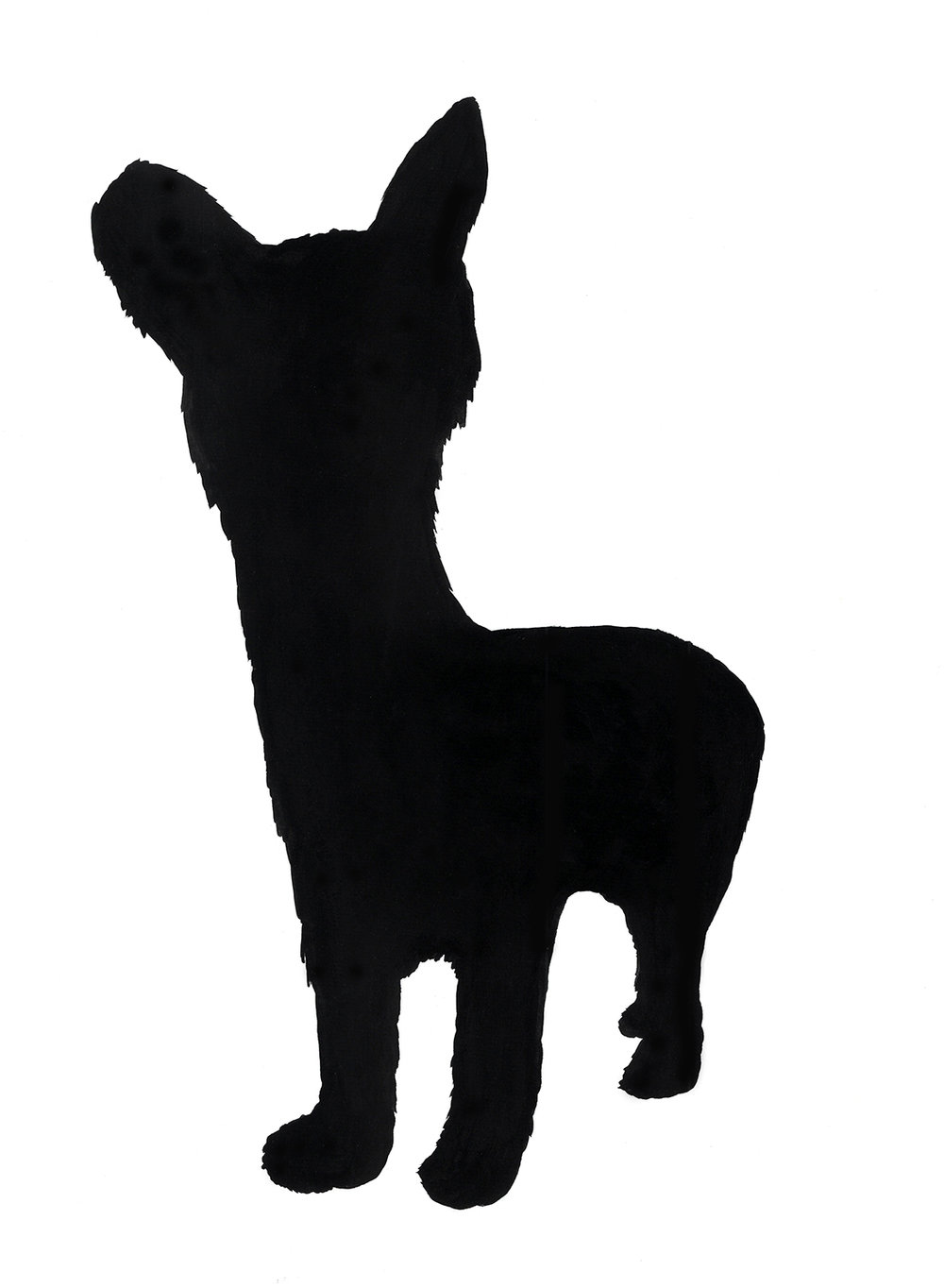 """sadie dog with neck"" ink and flashe on paper, 2012"