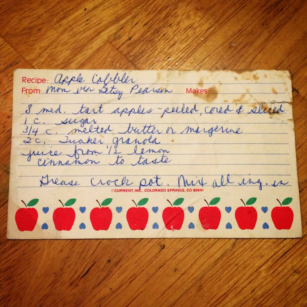 The dirtier the recipe card/cookbook page, the more loved the recipe.