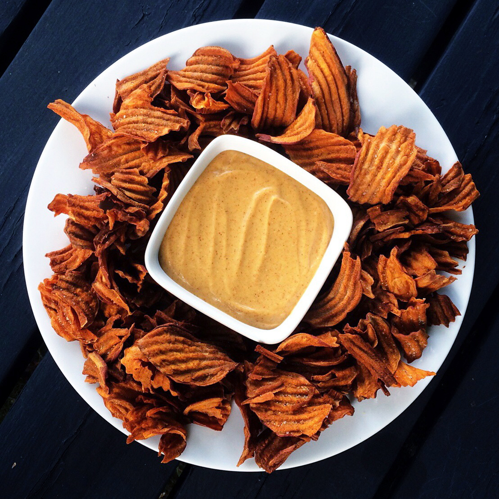 curry powder + sour cream + Cara-sel = a dip for sweet potato chips, fries, etc