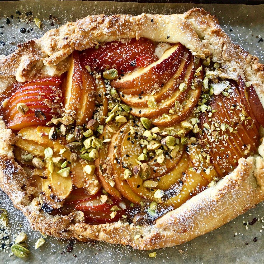 fruit + nut galette