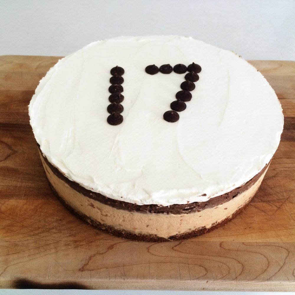 choc/pb ice cream cake, 17 year old, 2014