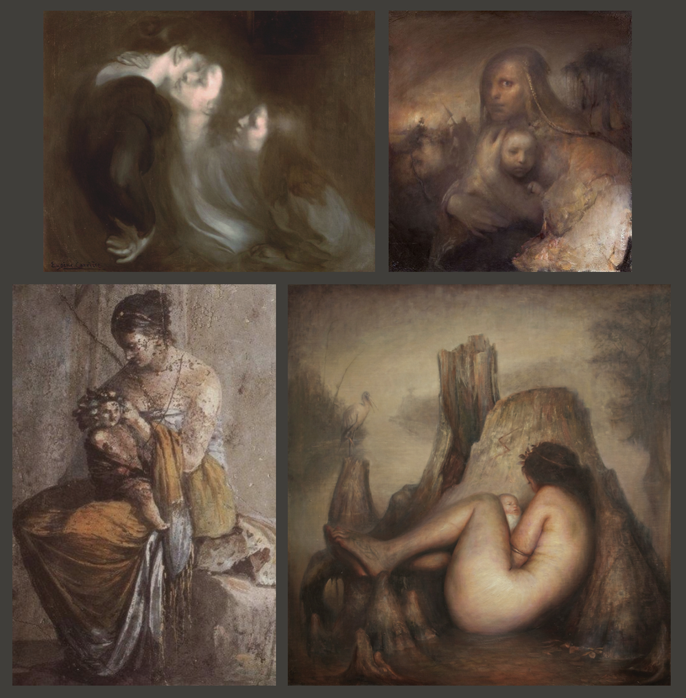 Eugéne Carriére,   Odd Nerdrum , Greek Fresco, Luke Hillestad
