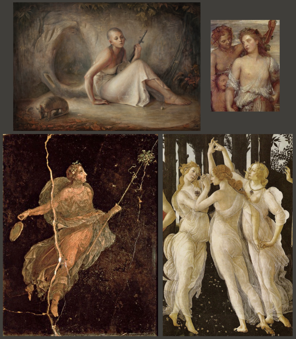 Luke Hillestad,George Frederick Watts, Roman Fresco,Sandro Botticelli