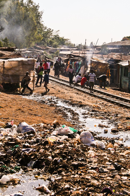 Kibera Slum, Nairobi, Kenya, the 2nd largest slum in Africa.