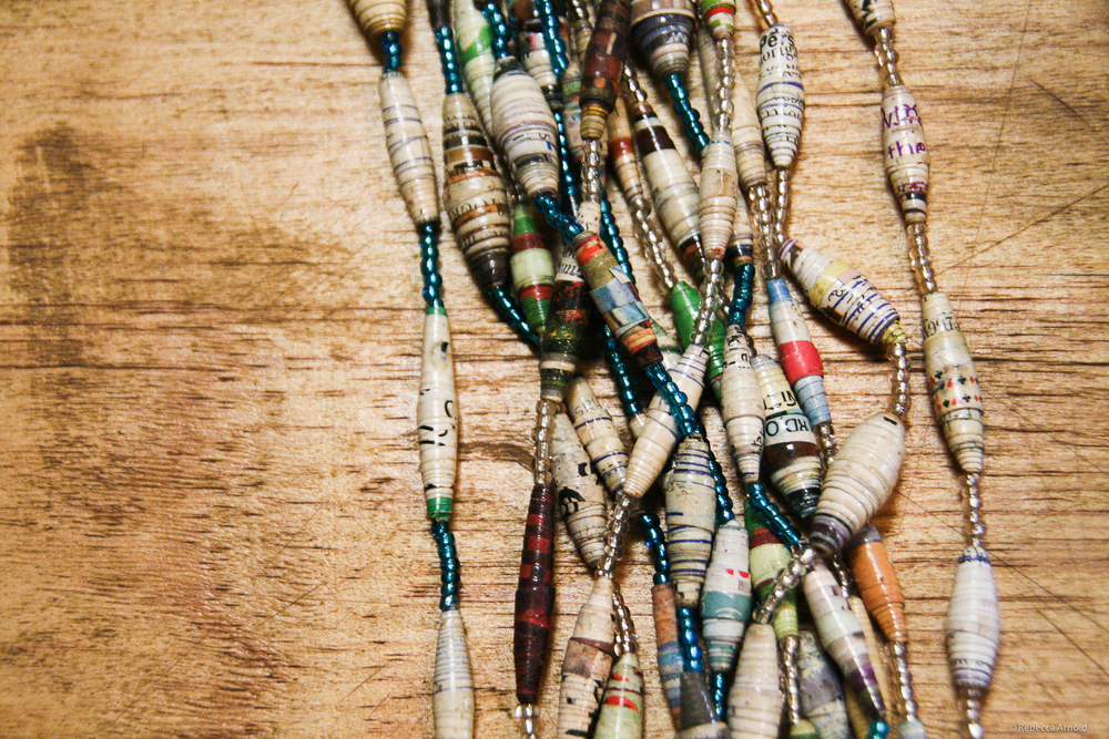 A Kibera mother's necklaces, sold in her small business.
