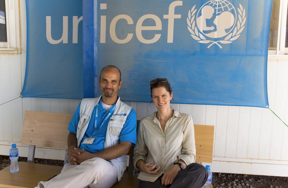 Rebecca Arnold with UNICEF, Zaatari Syrian refugee camp, Jordan